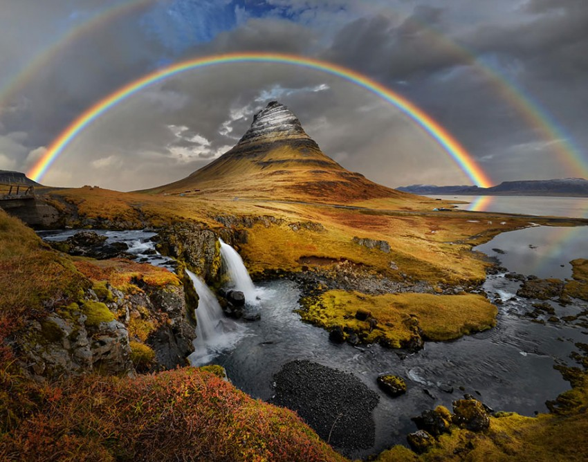 Rainbows are very common in Iceland