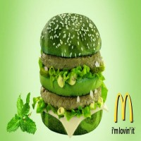 The New Spearmint Big Mac from McDonalds