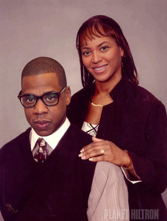 Jay Z as a company employee and Beyoncé as full-time housewife.