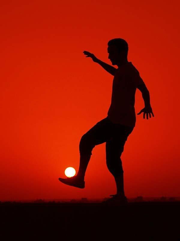 É uma ideia legal para jogar futebol utilizando um
