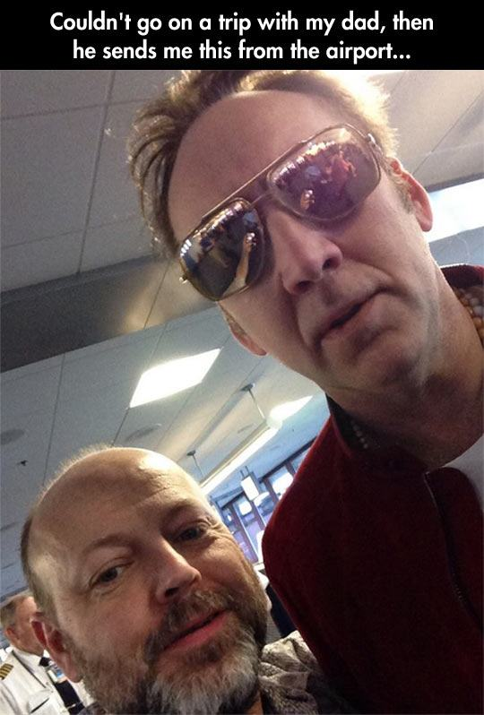 What Nic Cage had to do just to have a selfie with this guy