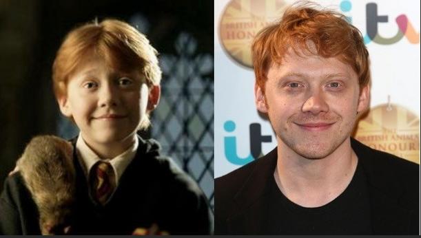 A partir de um garoto de gengibre estranho para um homem bonito, Rupert Grint (Ron Weasley) cresceu.