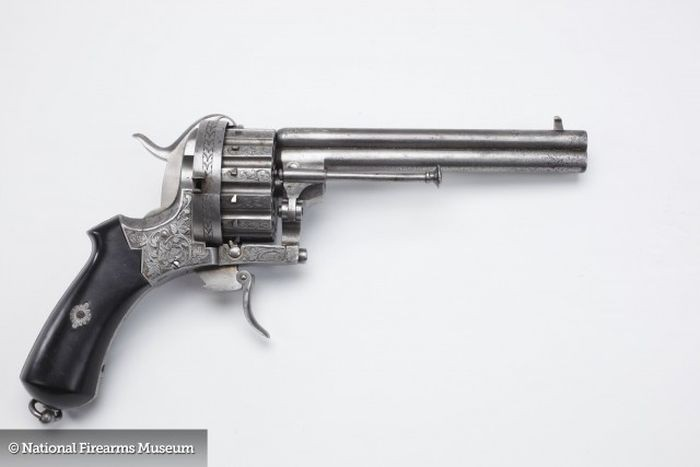 This Belgian Pinfire Revolver is how I think a gun should look.