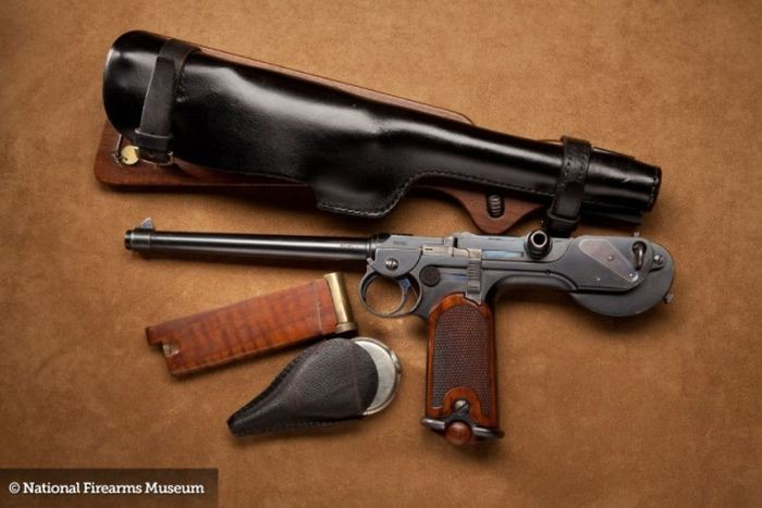 This Borchardt Pistol is best hang on the wall than on your pocket.
