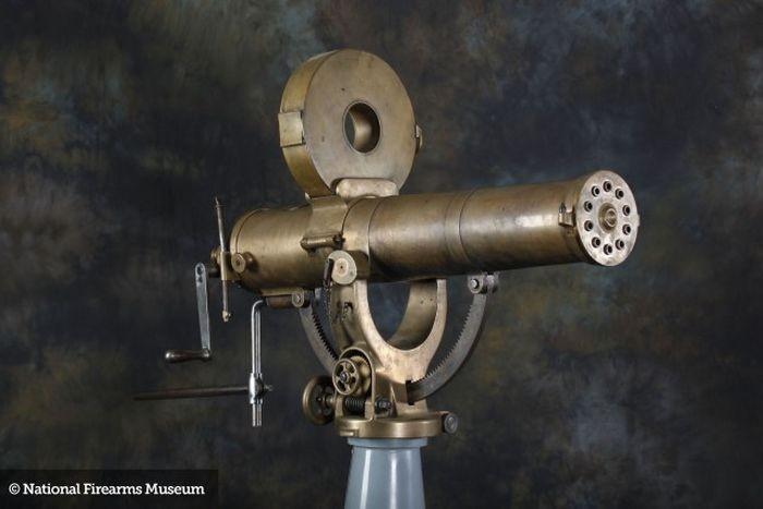 So this Colt Gatling U.S. Navy Model - .45 - .70 cal inspired the Gatling Pea Shooter hmm.